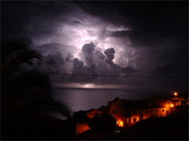 Thunder Above Madeira Waters.  Picture taken by Rob Dekker (from the Netherlands)